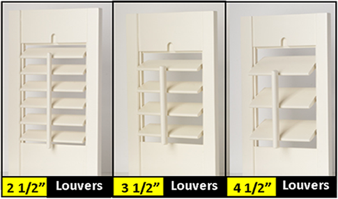 LOUVER SIZES - Shutters, Blinds, Window Blinds, Plantation Shutters, Vertical Blinds, Wood Shutters, Venetian Blinds, Window Shutters, Roman Shades